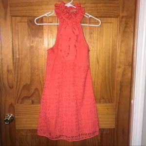Coral Halter Dress